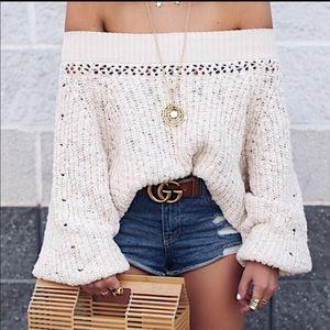 NWT Free People • Pandora Boatneck sweater